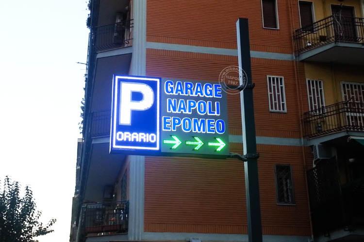 P parcheggio bifacciale box in alluminio bifacciale con led a vista