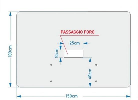 schermo in policarbonato 5mm per bancone cassa modello extend