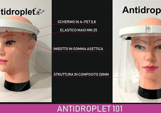 Visiera rigida parafiato protettiva antidroplet 101.