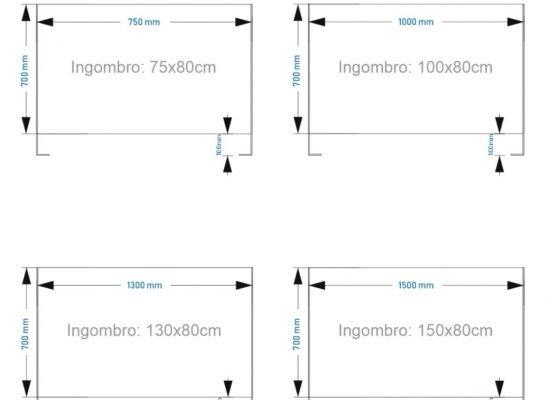 separatore in plexiglass per bar e ristoranti modello hard80