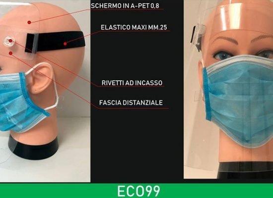 Visiera in plastica extra light modello ECO99