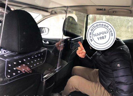 divisorio interno per autovetture in plastica trasparente
