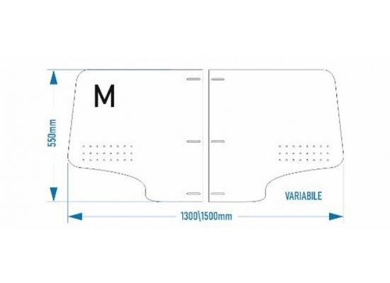 barriera protettiva in plexiglass trasparente per auto o taxi