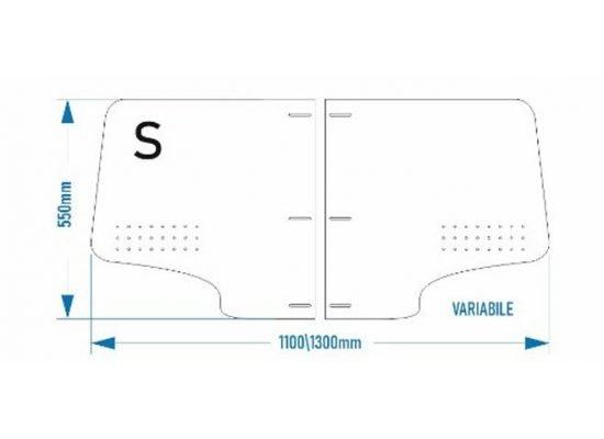 divisori per auto o taxi in plastica 5mm regolabili con staffe