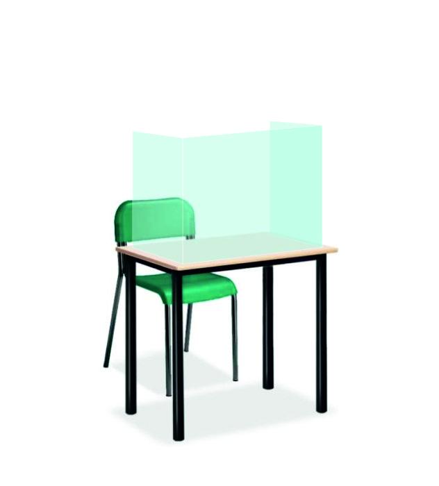 Divisori in plexiglass trasparente per banchi scuola