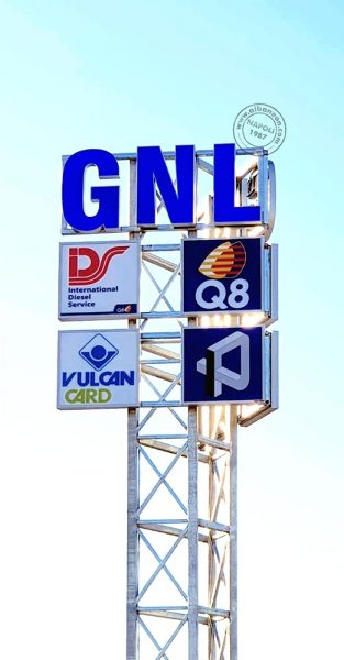 prezziari distributori carburanti a led